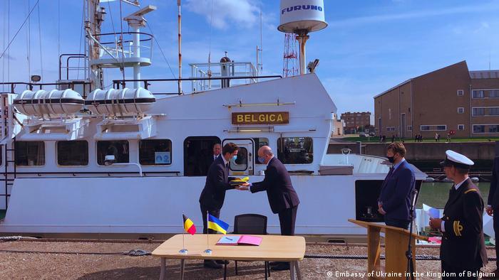 Передача судна Україні відбулася в порту Зербрюгге у Бельгії