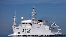 13.9.2021, Auf den Bildern ist die Übergabe des belgischen Schiffs Belgica an die Ukraine am 13.9.21 in Belgien zu sehen.