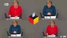 14.09.2021 Deutschland Bildmontage mit Angela Merkel