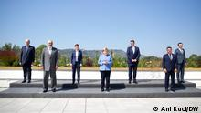 Chancellor Merkel during her farewell visit in Tirana: press conference and meeting with the 6 leaders of the Western Balkans,(WB6).***Chancellor Merkel in the joint press conference with Prime Minister Rama.