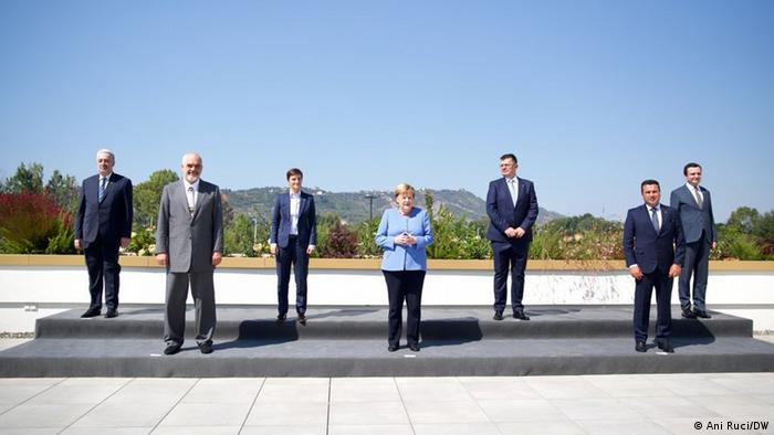 Albanien Bundeskanzlerin Merkel bei ihrem Abschiedsbesuch in Tirana