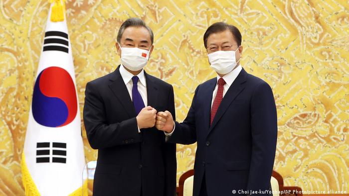 Südkorea | Moon Jae-in und Wang Yi
