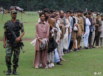 The Pakistani army has been coordinating the evacuation of villagers