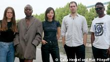 Calla Henkel, Sandra Mujinga, Sung Tieu, Max Pitegoff, Lamin Fofana (v.l.n.r.) © Foto: Calla Henkel und Max Pitegoff