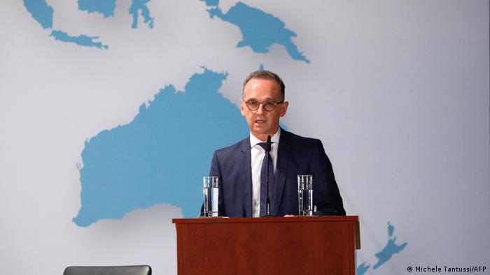 Minister Heiko Maas podczas prezentacji planów utworzenia miejsca pamięci i spotkań z Polską