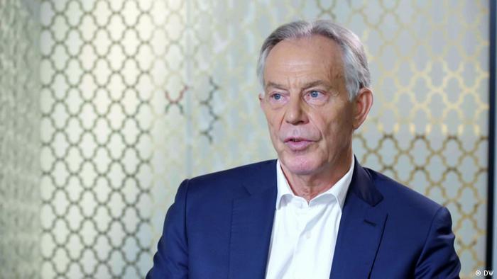 A portrait of former British PM Tony Blair