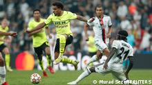 Players during the game Besiktas Istanbul vs. Borussia Dortmund