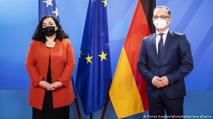Deutschland Berlin |Treffen Vjosa Osmani, Präsidentin Kosovo & Heiko Maas, Bundesaußenminister