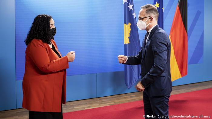Deutschland Berlin  Treffen Vjosa Osmani, Präsidentin Kosovo & Heiko Maas, Bundesaußenminister