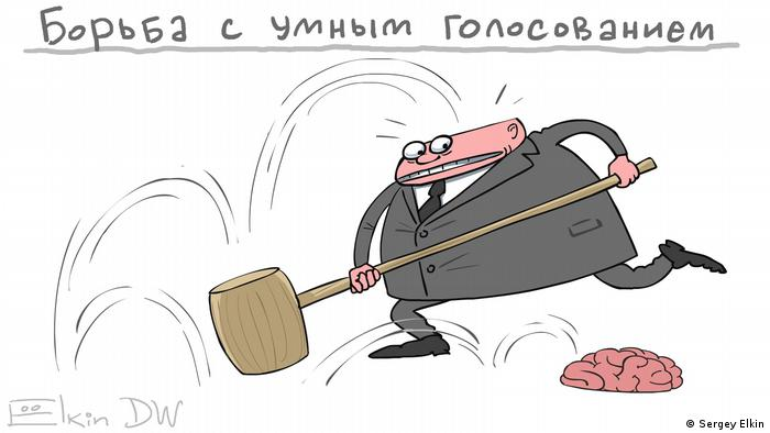Machthaber in Russland gegen Smartabstimmung von Nawalny bei Duma-Wahlen