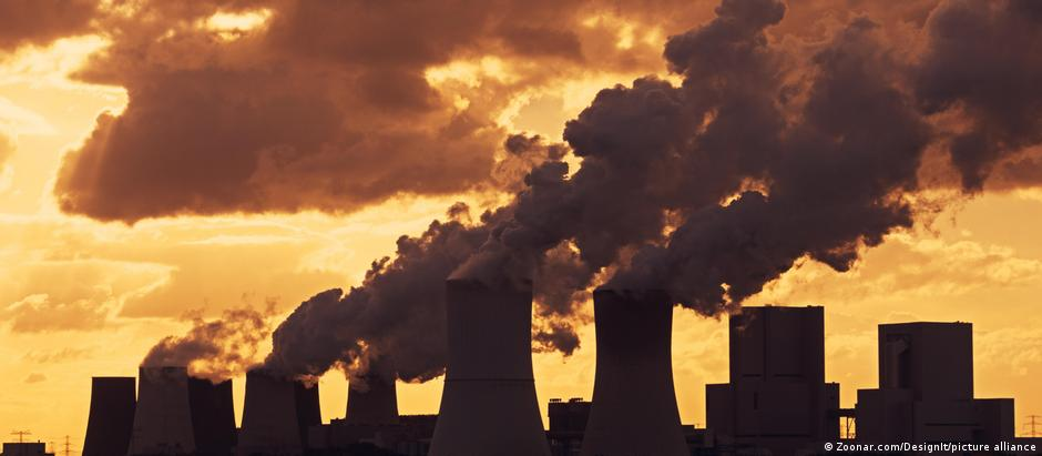 Emissions rise from the smokestacks of a coal power plant