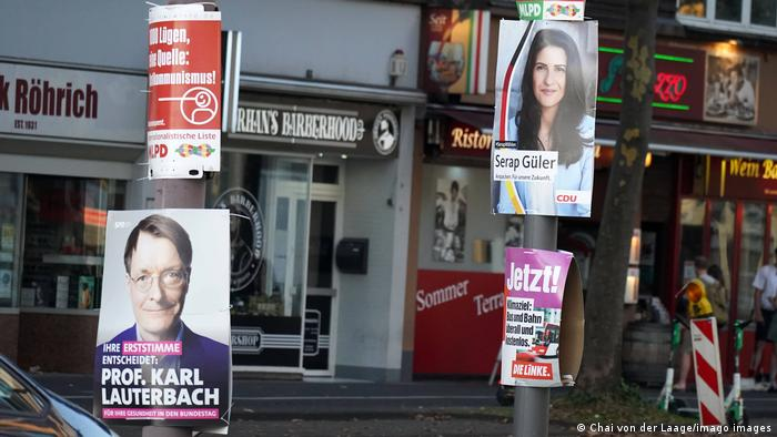German election posters in Cologne