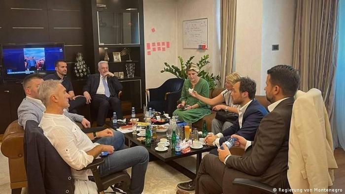 Montenegro Krise l Treffen von u.a. Krivokapic, Djukanovic