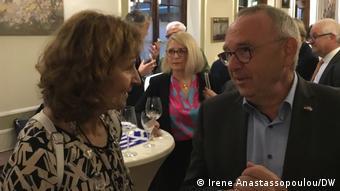 Με τον Νόρμπερτ Βάλτερ-Μπόργιανς σε εκδήλωση στο Ντίσελντορφ
