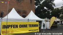 """""""Impfen beim Döner"""" in Berlin. Impfzelt ****Kay-Alexander Scholz, am 16.September 21 in Berlin"""