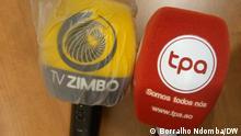 11.09.2021 TV Zimbo und TAP Mikrofone TPA und TV Zimbo forderten von der UNITA eine Entschuldigung für die Angriffe auf ihre Journalisten am Samstag, 11. September 2021.