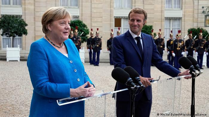 Frankreich l Präsident Macron empfängt Kanzlerin Merkel