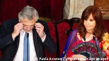 March 1, 2020, Buenos Aires, Argentina: Opening of ordinary legislative sessions of the Argentine National Congress by President Alberto Fernandez. From left to the right: Alberto Fernandez, president of the nation and Cristina Fernandez de Kirchner, vice president of the nation. Buenos Aires Argentina PUBLICATIONxINxGERxSUIxAUTxONLY - ZUMAdina 20200301mdaa188200 Copyright: xPaulaxAcunzox