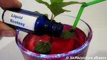Symbolbild - Liquid Ecstasy, K.o.-Tropfen, K.O.-Tropfen, KO Tropfen aufgenommen am Dienstag (29.05.2012) in Berlin. Foto: XAMAX