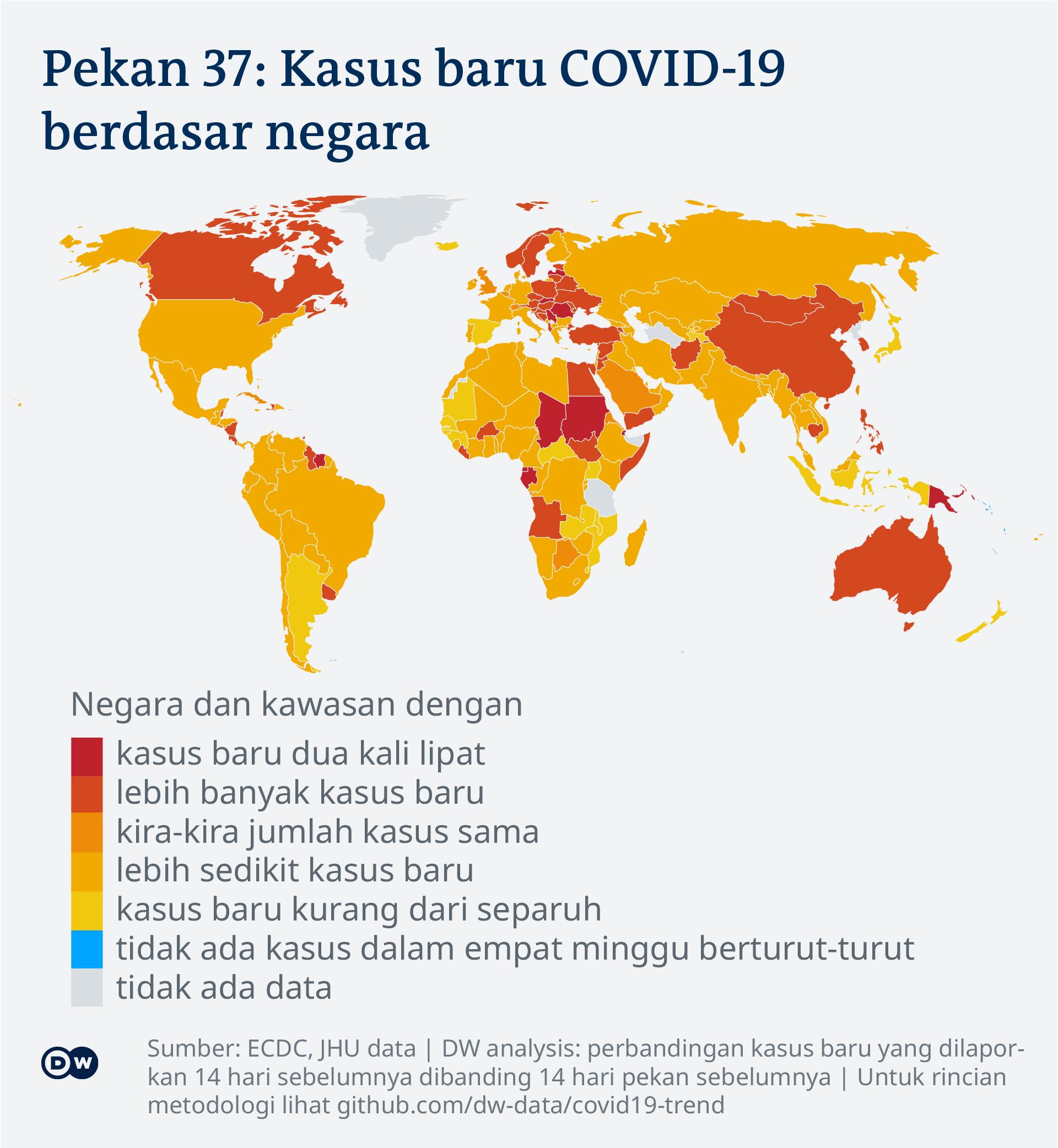 Data visualisasi kasus COVID-19 di dunia