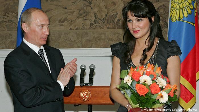 Анна Нетребуо и Владимир Путин в Санкт-Петербурге, 2008 год
