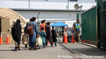 Афганские беженцы на базе Рамштайн