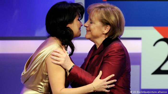 Анна Нетребко и Ангела Меркель в Баден-Бадене, 2010 год