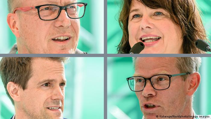 The four new faces on the Werder Bremen board: Harm Ohlmeyer, Ulrike Hiller, Dirk Wintermann and Dr. Florian Weiß