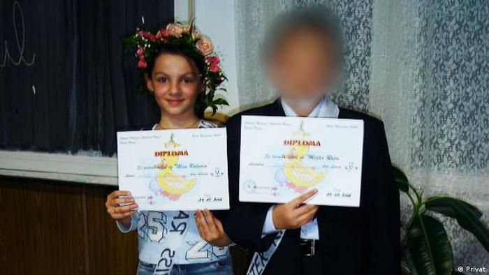 Ana-Marija Trasnea u svom rodnom gradu u vreme kada je išla u peti razred