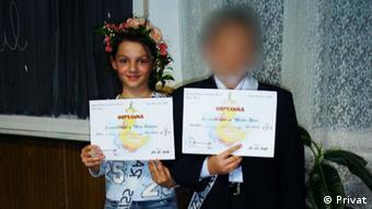 Ana-Maria la școală în România