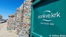 Müllentsorgung auf der Insel Krk, Kroatien Copyright: Zelena akcija