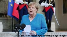 Angela Merkel Chanceliere federale d Allemagne au Palais de l Elysee NEWS: Macron recoit Merkel- Paris - 16/09/2021 JonathanRebboah/Panoramic PUBLICATIONxNOTxINxFRAxITAxBEL PESRK24022012