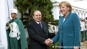 Abdelaziz Bouteflika und Angela Merkel