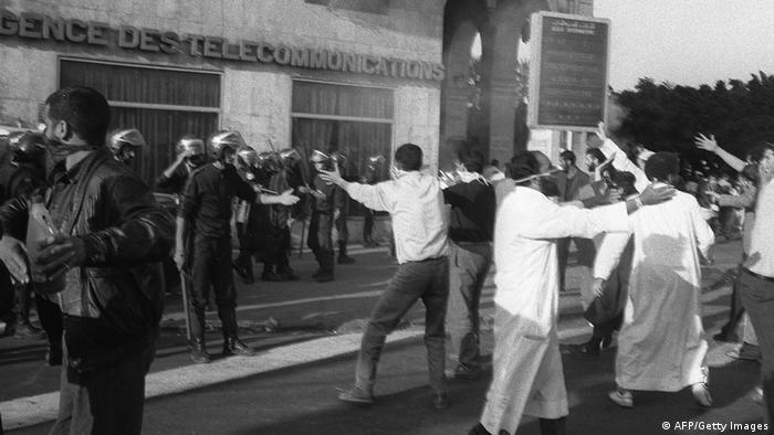 Ausschreitungen bei Protesten der Islamischen Heilsfront, 1991
