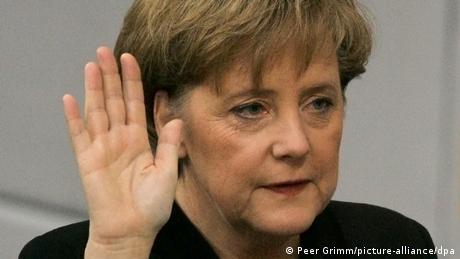 Kanzlerwahl - Amtseid Angela Merkel