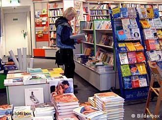 German book stores are full of foreign titles