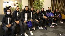 Uniform der iranischen Fußballnationalmannschaft der Frauen Dieses Bild zeigt die iranische Fußballnationalmannschaft der Frauen, die nach Taschkent geschickt wird, um an der Asienmeisterschaft teilzunehmen.