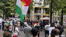 """Versammlung in Berlin 0-5 (Alle Bilder haben gleiche Beschreibungen) Schlagwörter: Es handelt sich um eine Veranstaltung oder Versammlung in Berlin am 18. September 2021. Es handelt sich um 29. Jahrestag der """"Mykonos Terror"""" im September 1992 im Restaurant Mykonos. In diesem Ereignis wurde iranische Oppositionell darunter Mitglieder der kurdischen Partei HDK (Demokratisch Kurdische Partei). Lizenz: frei Quelle: HDK (Die Bilder wurde von HDK bzw. Demokratische Kurdische Partei gesendet) VIA Taher Shirmohammadi"""