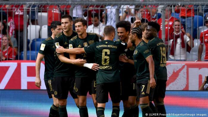 Joie des joueurs du Bayern Munich