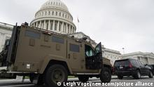 An armored car parks near the Capitol entrance during the Justice for J6 rally in Washington, D.C. on Saturday, September 18, 2021. More than 600 people have been charged in the January 6, 2021 pro-Trump demonstration that turned into a riot at the Capitol injuring 140 police officers and resulting in the deaths of five people. Photo by Leigh Vogel/UPI Photo via Newscom picture alliance