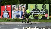 Bundestagswahl 2021 Wahlplakate in Frankfurt am Main