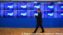 19.09.2021 6654350 19.09.2021 A man walks past information electronic screens at the headquarters of Russia's Central Election Commission during three-day parliamentary elections in Moscow, Russia. Voters will elect members of the Russian State Duma and heads of nine Russian regions and 39 constituent regions on 17-19 of September 2021. Evgeny Odinokov / Sputnik
