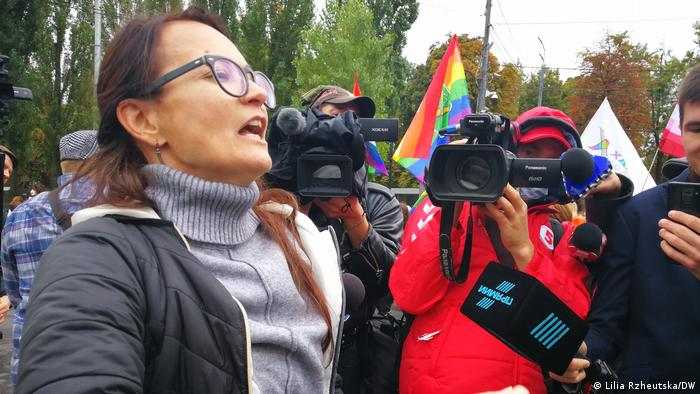 Противниця ЛГБТ-спільноти