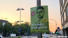 Anas Al-Qura'an, Bundestag Kandidat der Grüne.