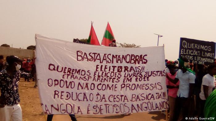 Angola Proteste für freie Wahlen