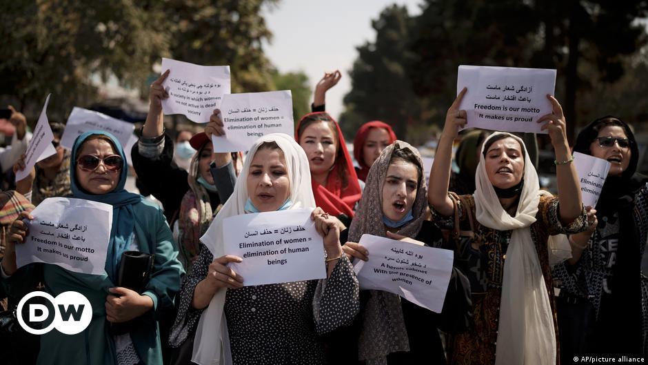 Afghan women demand their rights under Taliban rule