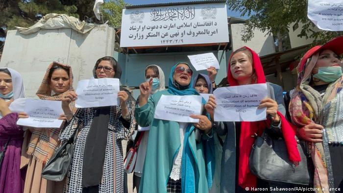 Акція протесту проти обмежень прав жінок в Афганістані