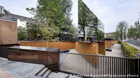 Pictured: a new national Holocaust monument in Amsterdam
