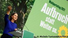 19.09.2021 Germany's candidate for chancellor Annalena Baerbock and co-leader of Germany's Alliance 90/The Greens party, speaks during a Party Congress event in Berlin, Germany, September 19, 2021. REUTERS/Michele Tantussi