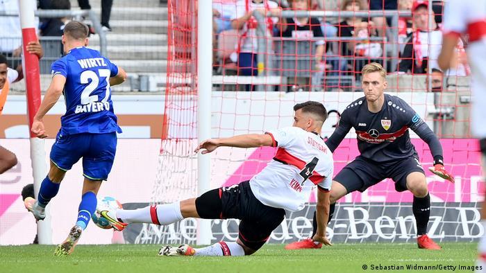 Fußball Bundesliga   VfB Stuttgart vs Bayer 04 Leverkusen   Tor 1:3